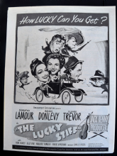 The Lucky Stiff (1949) - Dorothy Lamour | Vintage Trade Ad
